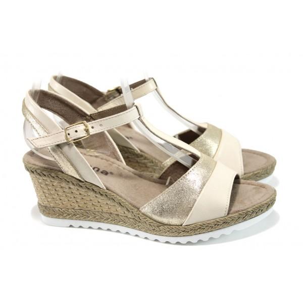 Дамски сандали Jana 8-28304-28H бежов | Немски сандали на платформа | MES.BG
