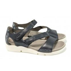 Анатомични дамски сандали Jana 8-28600-28H черен | Равни немски сандали | MES.BG