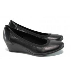 Анатомични дамски обувки от естествена кожа Marco Tozzi 2-22300-29 черен | Немски обувки на платформа | MES.BG