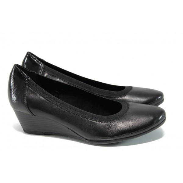 Анатомични дамски обувки от естествена кожа Marco Tozzi 2-22300-29 черен   Немски обувки на платформа   MES.BG