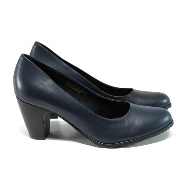 Елегантни дамски обувки от естествена кожа S.Oliver 5-22411-29 т.син   Немски дамски обувки   MES.BG