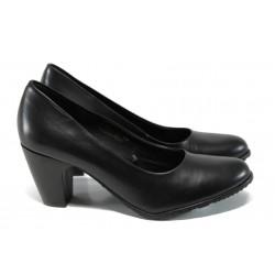Елегантни дамски обувки от естествена кожа S.Oliver 5-22411-29 черен | Немски дамски обувки | MES.BG