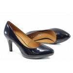 Дамски обувки на ток Caprice 9-22411-29 син лак | Немски обувки на ток | MES.BG