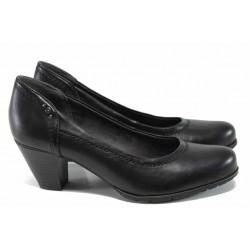 Дамски обувки на ток Jana 8-22462-29Н черен | Немски обувки на среден ток | MES.BG