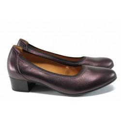 Дамски обувки на ток Caprice 8-22302-29H бордо | Немски обувки на среден ток | MES.BG
