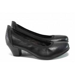 Дамски обувки на ток Jana 8-22303-29Н черен | Немски обувки на среден ток | MES.BG