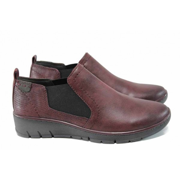 Равни дамски обувки Jana 8-24304-29H бордо | Равни немски обувки | MES.BG