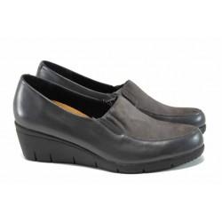 Дамски обувки от естествена кожа Caprice 9-24702-29 сив | Немски обувки на платформа | MES.BG