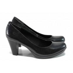Дамски обувки на ток Marco Tozzi 2-22422-29 зелен стомана | Немски обувки на ток | MES.BG