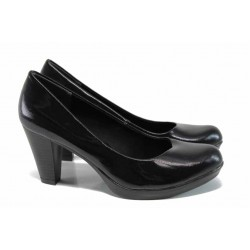 Дамски обувки на ток Marco Tozzi 2-22422-29 черен лак | Немски обувки на ток | MES.BG