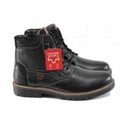 Мъжки боти от естествена кожа S.Oliver 5-15225-29 черен | Немски мъжки обувки | MES.BG