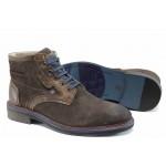 Мъжки боти от естествен велур S.Oliver 5-15104-29 кафяв | Немски мъжки обувки | MES.BG