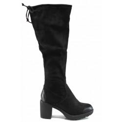 Дамски ботуши тип чизми S.Oliver 5-25604-29 черен | Немски ботуши | MES.BG