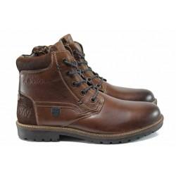 Мъжки боти от естествена кожа S.Oliver 5-15225-29 кафяв | Немски мъжки обувки | MES.BG