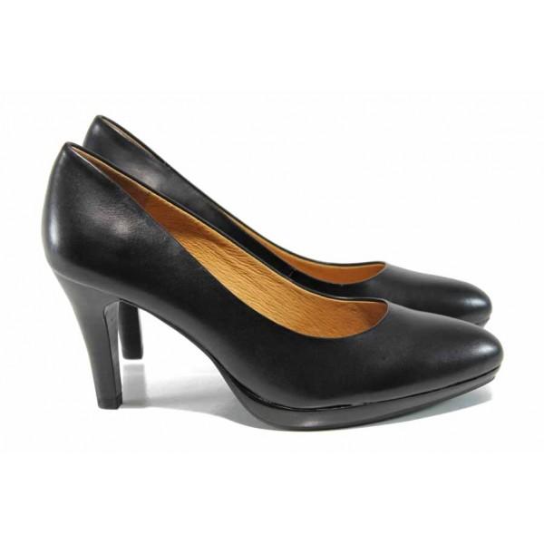 Дамски обувки на висок ток Caprice 9-22411-29 черен   Немски обувки на ток   MES.BG