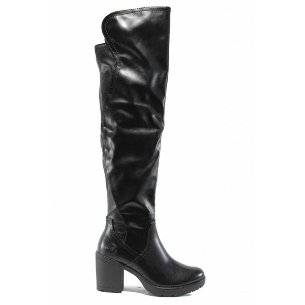 Дамски ботуши тип чизми Marco Tozzi 2-25604-29 черен кожа | Немски ботуши | MES.BG