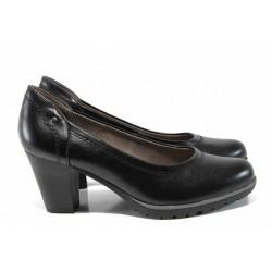 Анатомични дамски обувки на ток Jana 8-22461-20Н черен | Немски обувки на ток | MES.BG