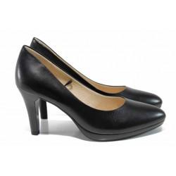 Дамски елегантни обувки на висок ток Caprice 9-22414-20 черен | Немски обувки на ток | MES.BG