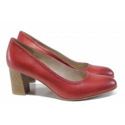 Анатомични дамски обувки на висок ток Jana 8-22401-20 чили | Немски обувки на ток | MES.BG