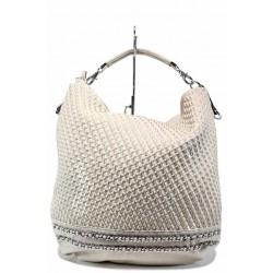 "Дамска чанта тип-""торба"" ФР 082 бежов | Дамска чанта | MES.BG"