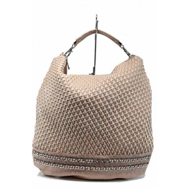 "Дамска чанта тип-""торба"" ФР 082 розов | Дамска чанта | MES.BG"