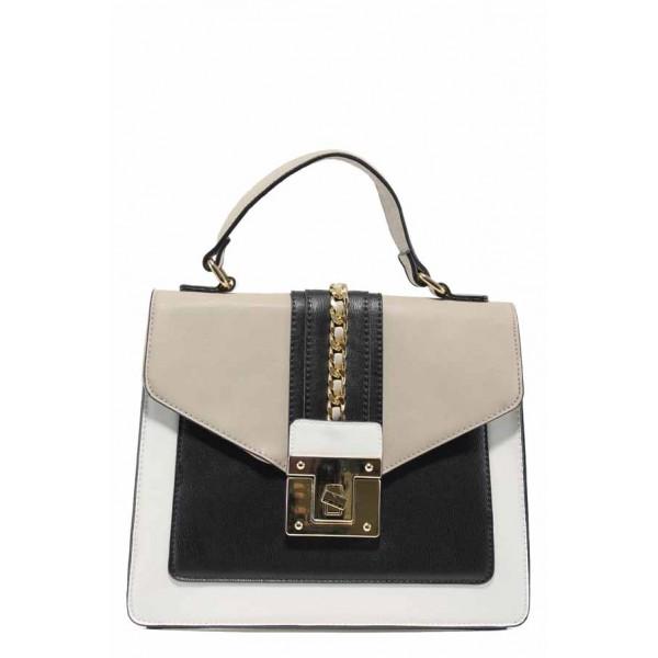 Дамска чанта с модерна визия ФР 971 бял   Дамска чанта   MES.BG