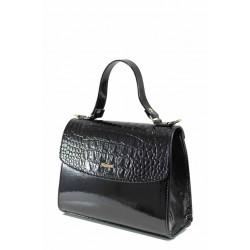Елегантана дамска чанта ФР 13 черен лак | Дамска чанта | MES.BG