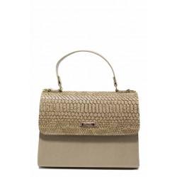 Елегантана дамска чанта ФР 13 бежов лак | Дамска чанта | MES.BG