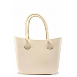Дамска силиконова чанта ФР 031 бежов | Дамска чанта | MES.BG