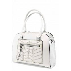Ежедневна дамска чанта с модерна визия ФР 6687 бял | Дамска чанта | MES.BG