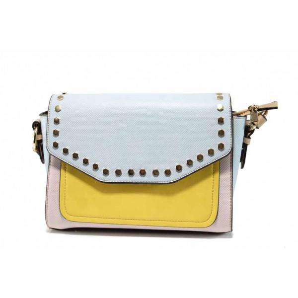 Дамска ежедневна чанта ФР 411 син-жълт | Дамска чанта | MES.BG