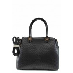 Стилна дамска чанта с три прегради ФР 8096 черен | Дамска чанта | MES.BG
