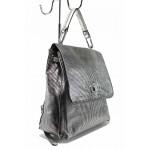 Модерна дамска раница ФР 801 сребро   Дамска чанта   MES.BG
