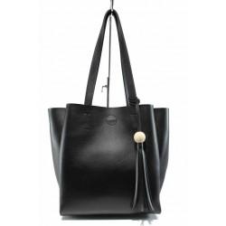 Българска дамска чанта СБ 1219 черен   Дамска чанта   MES.BG