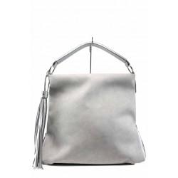 Българска дамска чанта СБ 1205 сив-сребро | Дамска чанта | MES.BG