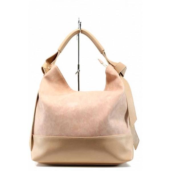 Българска дамска чанта СБ 1203 розов | Дамска чанта | MES.BG