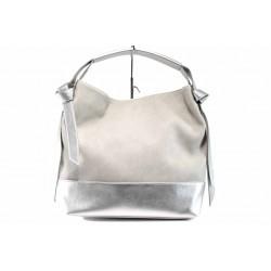 Българска дамска чанта СБ 1203 сив-сребро | Дамска чанта | MES.BG