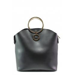 Елегантна българска чанта СБ 1237 черен | Дамска чанта | MES.BG