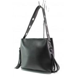 Българска дамска чанта СБ 1235 черен кожа | Дамска чанта | MES.BG