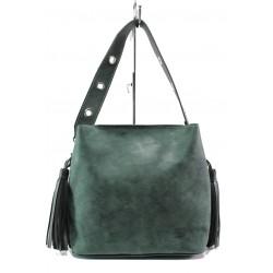 Българска дамска чанта СБ 1234 зелен | Дамска чанта | MES.BG
