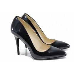 Дамски елегантни обувки МИ 5596 син лак | Дамски обувки на висок ток | MES.BG