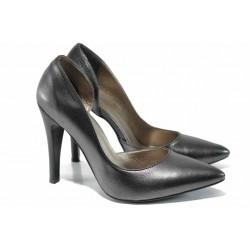 Елегантни дамски обувки МИ 560 т.сребро | Дамски обувки на висок ток | MES.BG