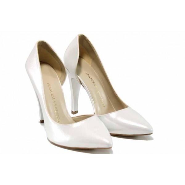 Елегантни дамски обувки МИ 560 св.сребро | Дамски обувки на висок ток | MES.BG