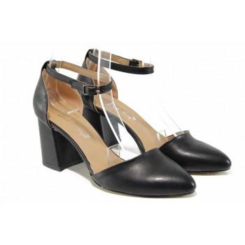 Дамски обувки на комфортно ходило МИ 5104 черен | Дамски обувки на висок ток | MES.BG