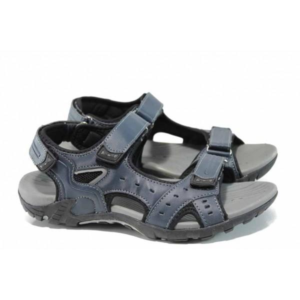 Юношески сандали с анатомично ходило АБ 1708 т.син | Юношески чехли и сандали | MES.BG