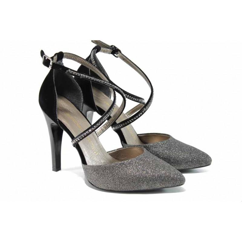 ef705c9ee1c Елегантни дамски обувки МИ 547-1 сребро | Дамски обувки на висок ток |  MES.BG