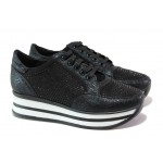 Дамски спортни обувки с модерна визия ТЯ 1308 черен | Дамски маратонки | MES.BG