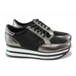 Дамски спортни обувки с модерна визия ТЯ 1308 сив | Дамски маратонки | MES.BG