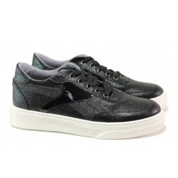 Дамски спортни обувки с модерна визия ТЯ 1307 черен | Дамски маратонки | MES.BG