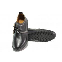 Дамски ортопедични обувки от естествена кожа ТЯ 341-01 черен | Равни дамски обувки | MES.BG